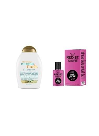 Organix Organix Quenching+Coconut Curls Bukleli Saç Şampuanı 385 Ml+Redist Pink Sugar No:180 Saç Parfümü 50 Ml Renksiz